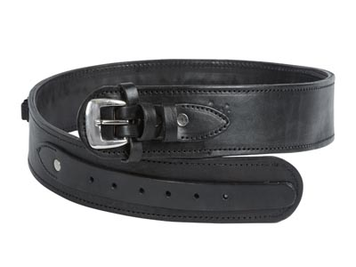 "Western Justice Leather Gun Belt, 36-40"" Waist, Black"