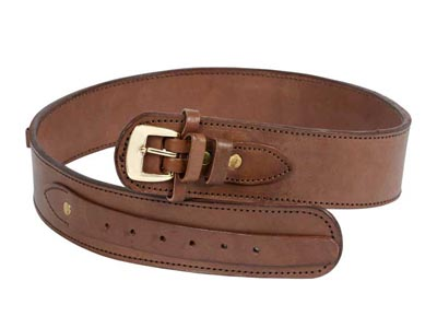 "Western Justice Leather Gun Belt, 48-52"" Waist, Chocolate"