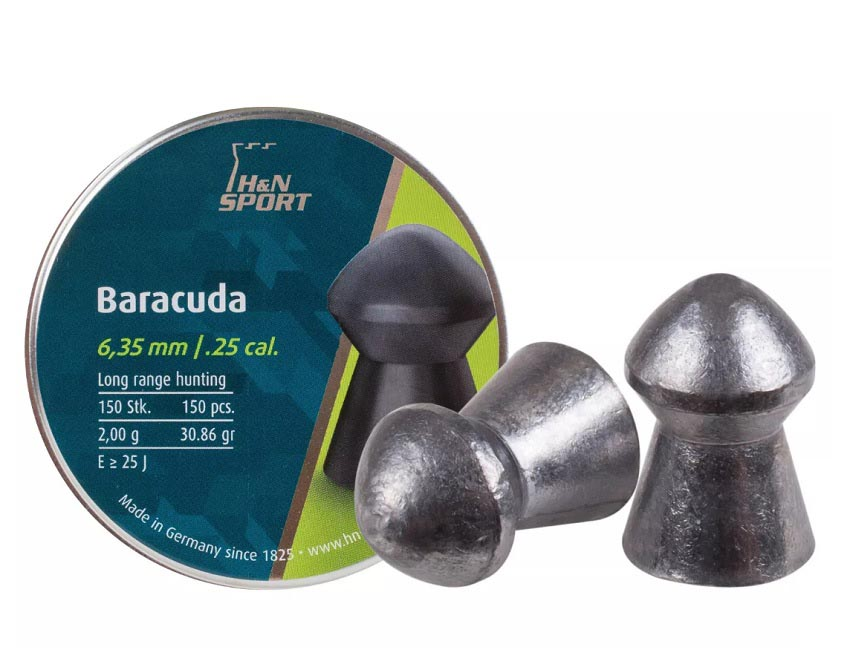 H&N Baracuda .25 Cal, 30.86 gr - 150 ct