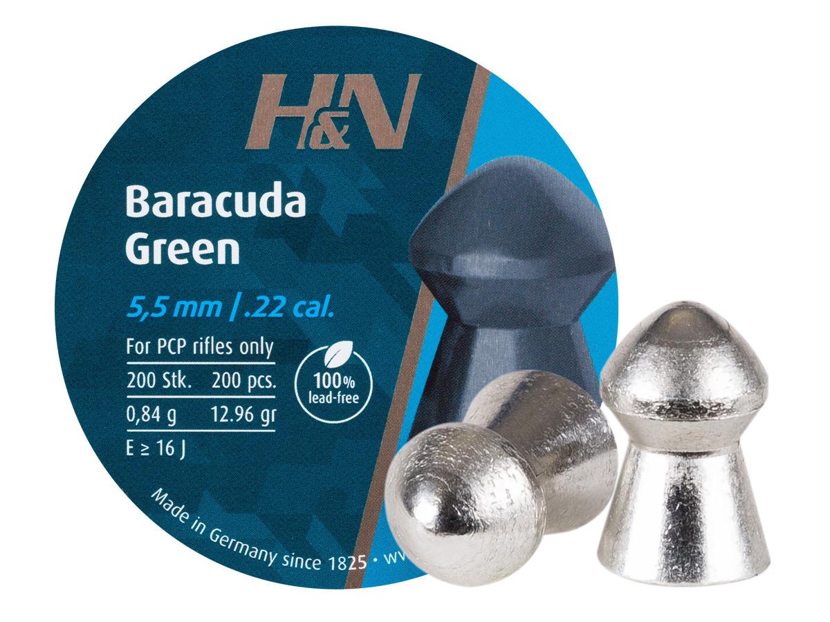 H&N Baracuda Green .22 Cal, 12.96 gr - 200 ct