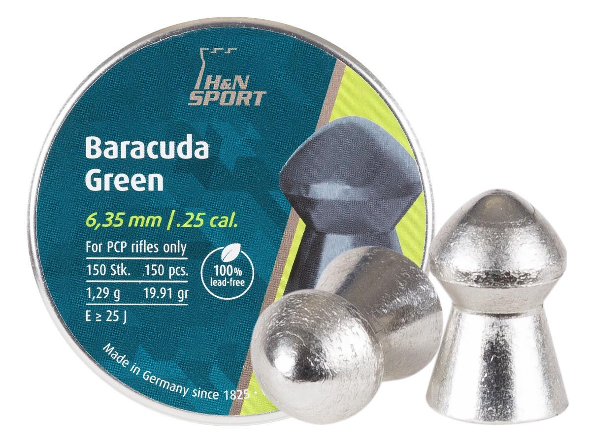 H&N Baracuda Green .25 Cal, 19.91 gr - 150 ct