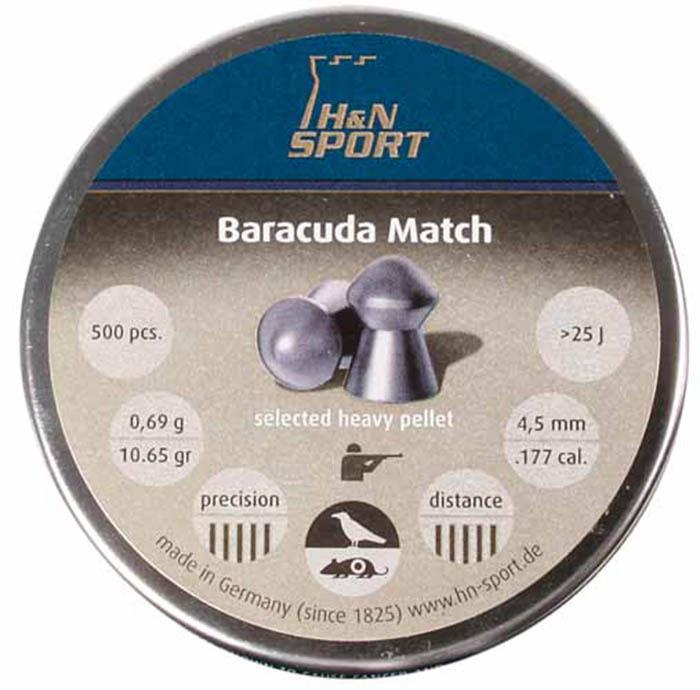 H&N Baracuda Match (4.51mm) .177 Cal, 10.65 gr - 500 ct