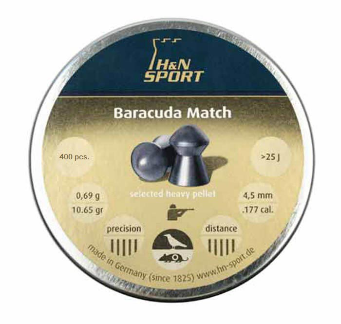 H&N Baracuda Match (4.5 mm) .177 Cal, 10.65 gr - 400 ct