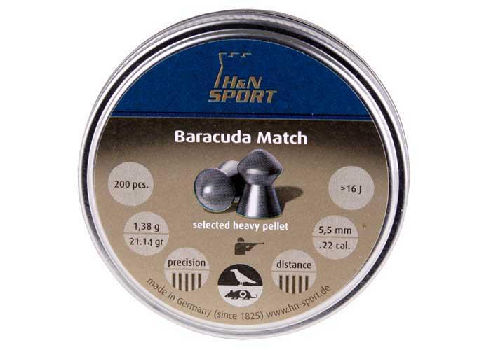 H&N Baracuda Match (5.53mm) .22 Cal, 21.14 gr - 200 ct