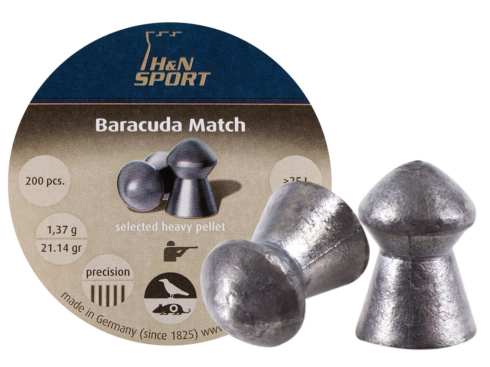 H&N Baracuda Match (5.53mm) .22 Cal, 21.14 gr - 200 ct