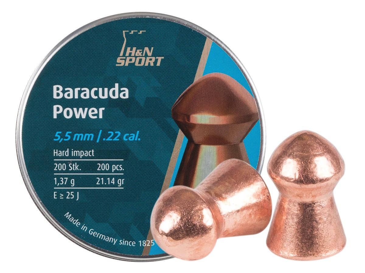 H&N Baracuda Power .22 Cal, 21.14 gr - 200 ct