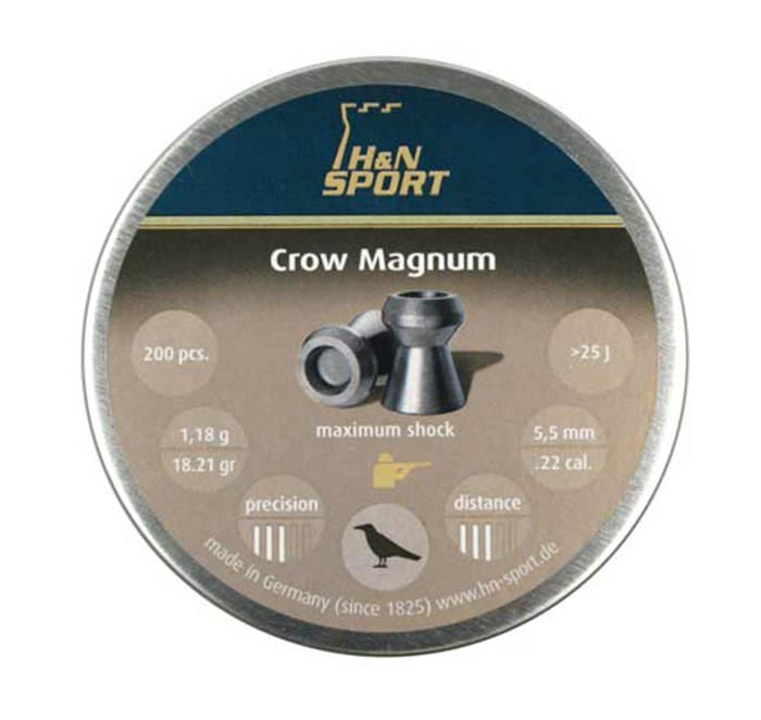 H&N Crow Magnum .22 Cal, 18.21 gr - 200 ct