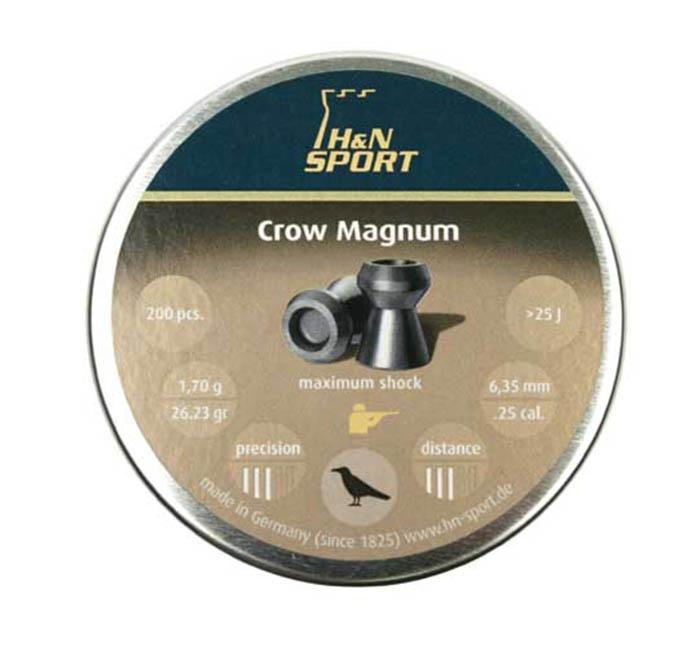 H&N Crow Magnum .25 Cal, 26.23 gr - 200 ct