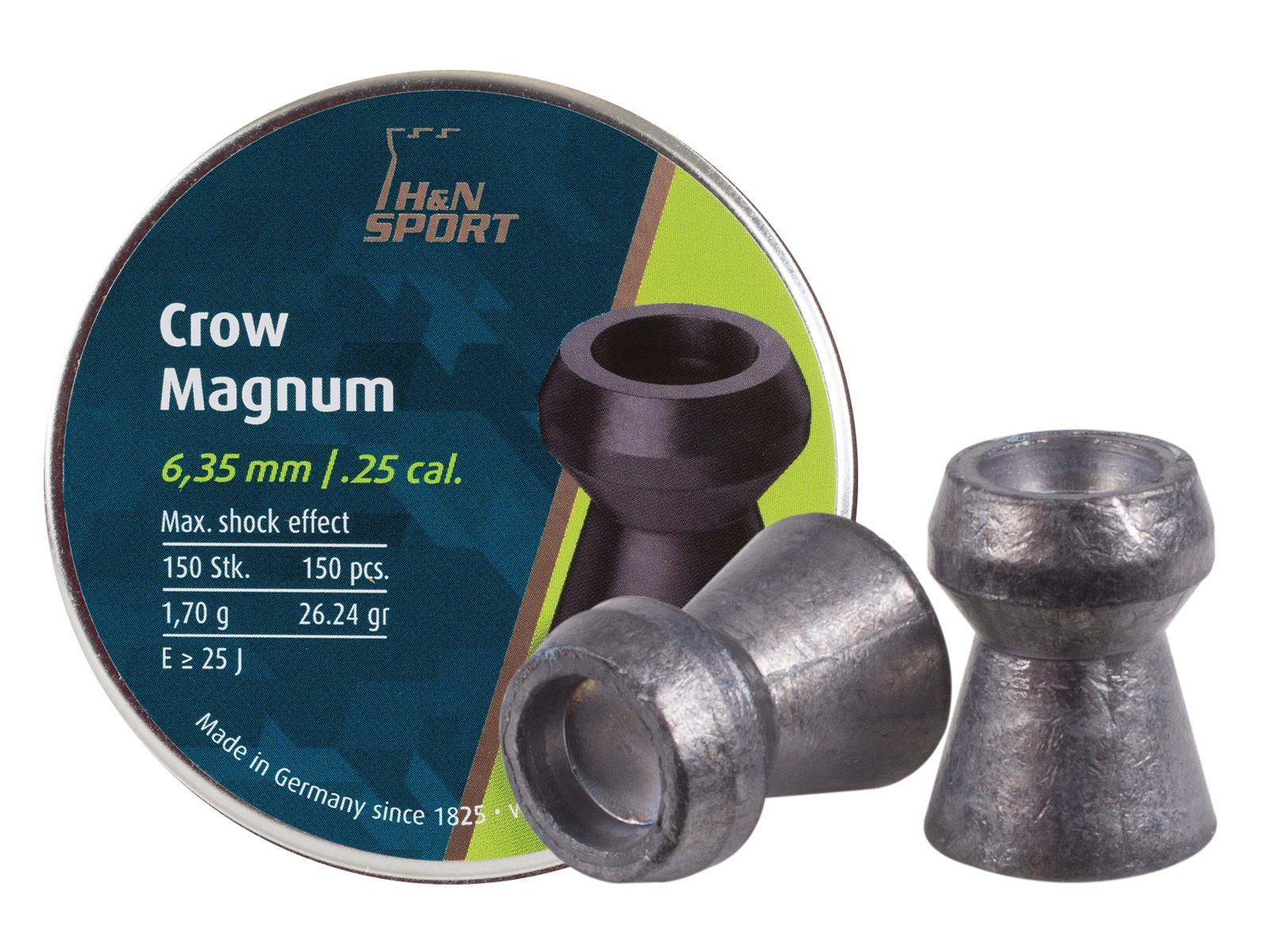 H&N Crow Magnum .25 Cal, 26.24 gr - 150 ct
