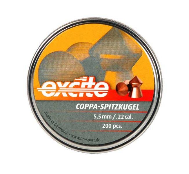 H&N Excite Coppa-Spitzkugel .22 Cal, 16.05 gr - 200 ct