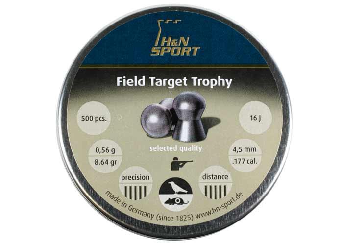 H&N Field Target Trophy (4.51mm) .177 Cal, 8.64 gr - 500 ct