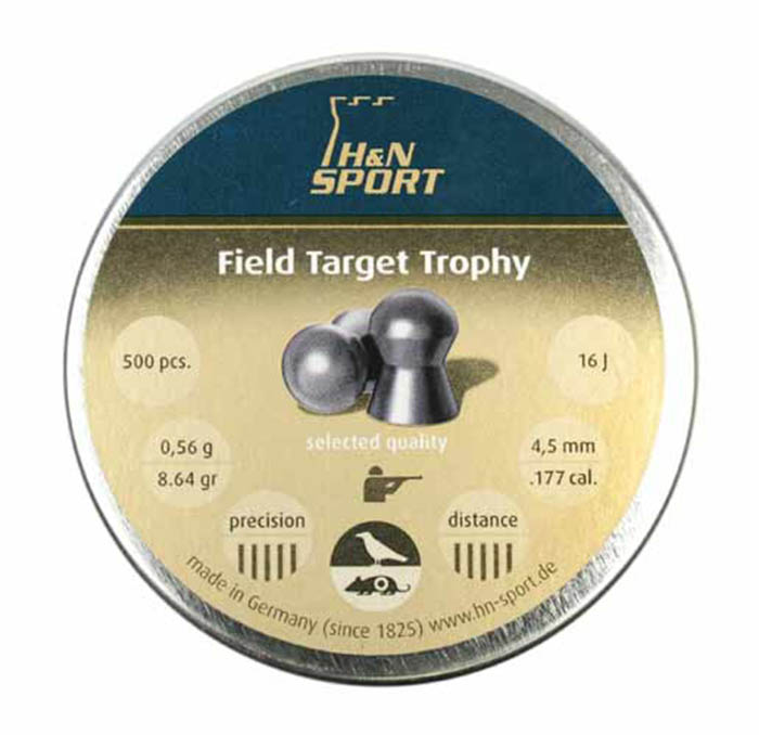 H&N Field Target Trophy (4.5mm) .177 Cal, 8.64 gr - 500 ct