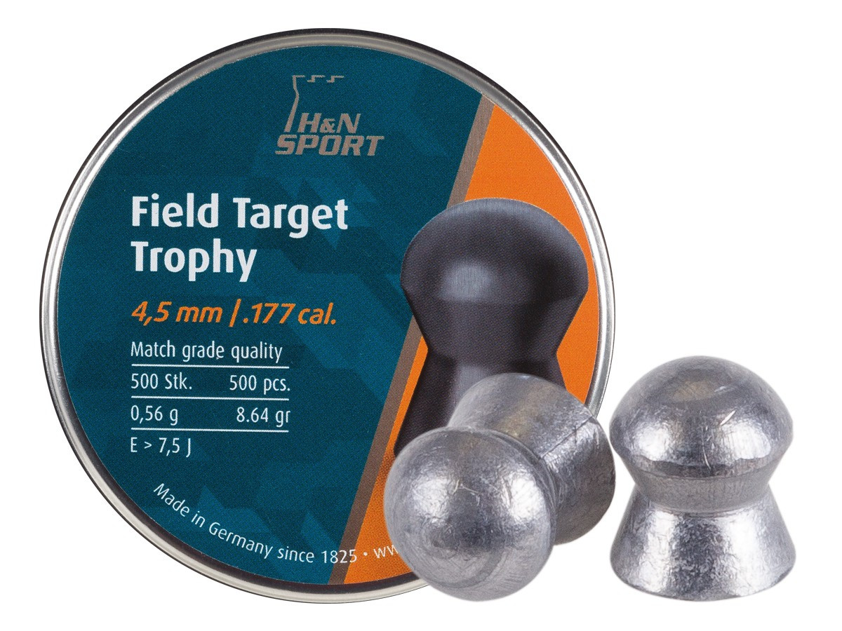 H&N Field Target Trophy (4.51mm) .177 Cal, 8.64 gr - 500 ct