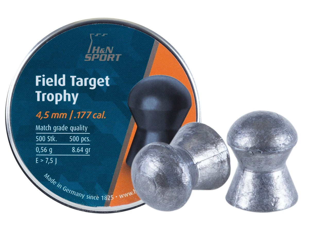 H&N Field Target Trophy (4.52mm) .177 Cal, 8.64 gr - 500 ct