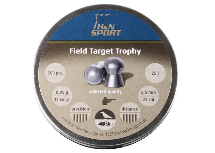 H&N Field Target Trophy (5.55mm) .22 Cal, 14.66 gr - 500 ct