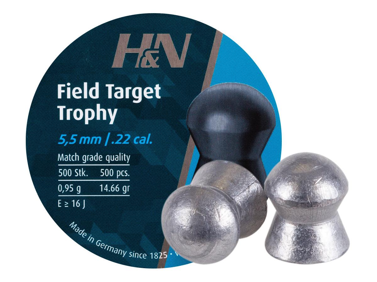 H&N Field Target Trophy (5.54mm) .22 Cal, 14.66 gr - 500 ct