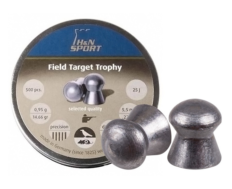H&N Field Target Trophy (5.53mm) .22 Cal, 14.66 gr - 500 ct