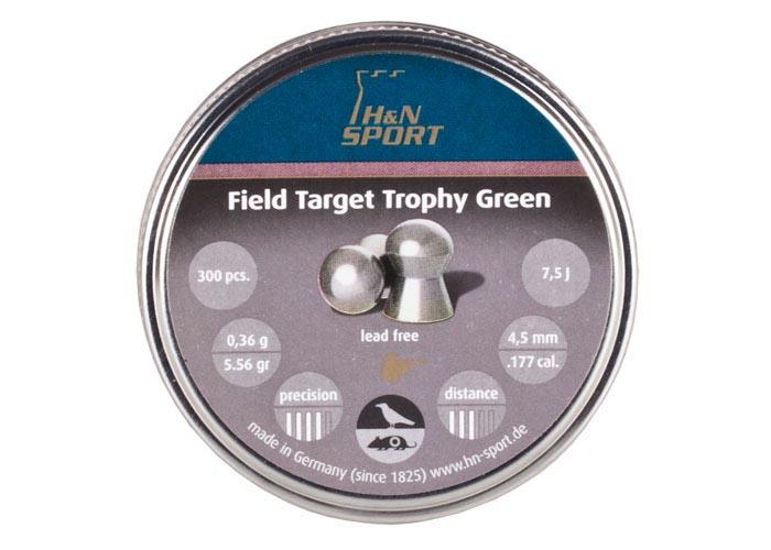 H&N Field Target Trophy Green .177 Cal,  5.56 gr - 300 ct