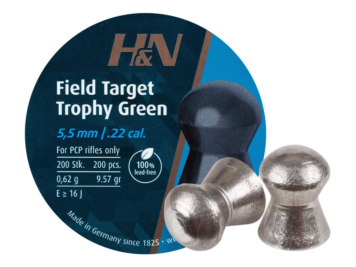H&N Field Target Trophy Green .22 Cal, 9.56 gr - 200 ct