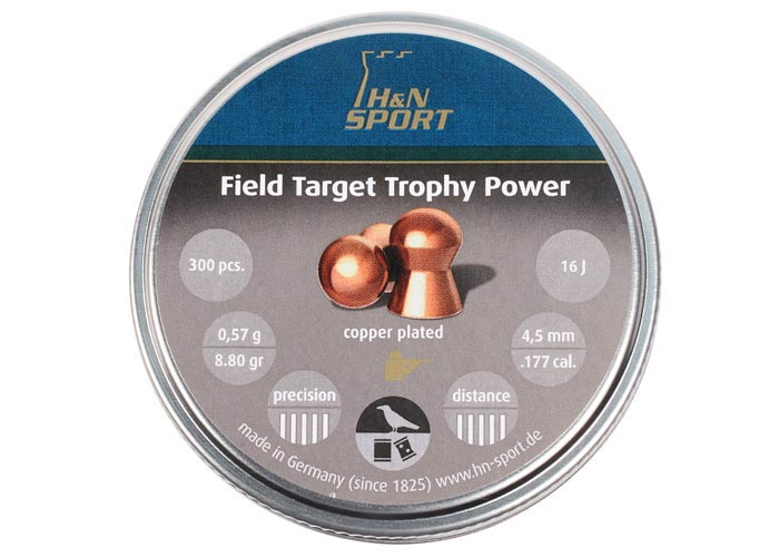 H&N Field Target Trophy Power .177 Cal, 8.8 gr - 300 ct