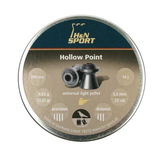 H&N Hollow Point .22 Cal, 12.65 gr - 200 ct
