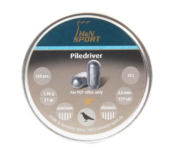 H&N Piledriver (4.46mm) .177 Cal, 21 gr - 250 ct