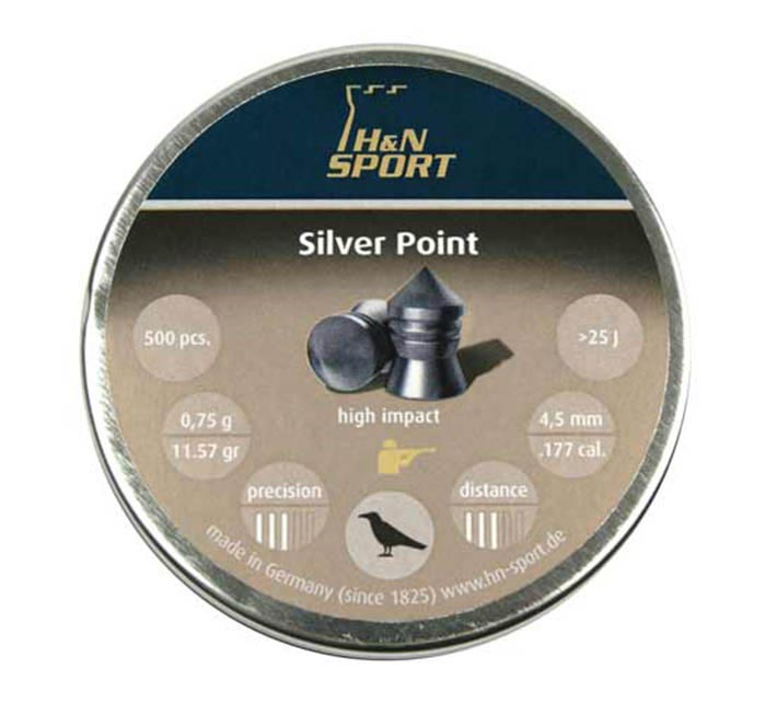 H&N Silver Point .177 Cal, 11.57 gr - 500 ct