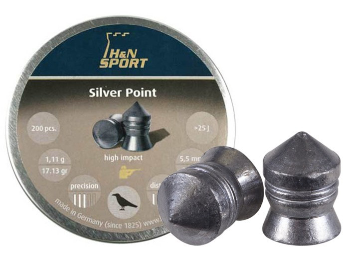 H&N Silver Point .22 Cal, 17.13 gr - 200 ct