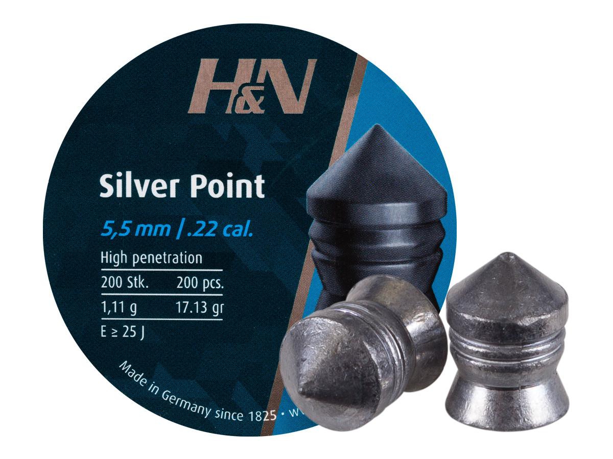 H&N Silver Point .22 Cal, 17.13 gr - 200 ct
