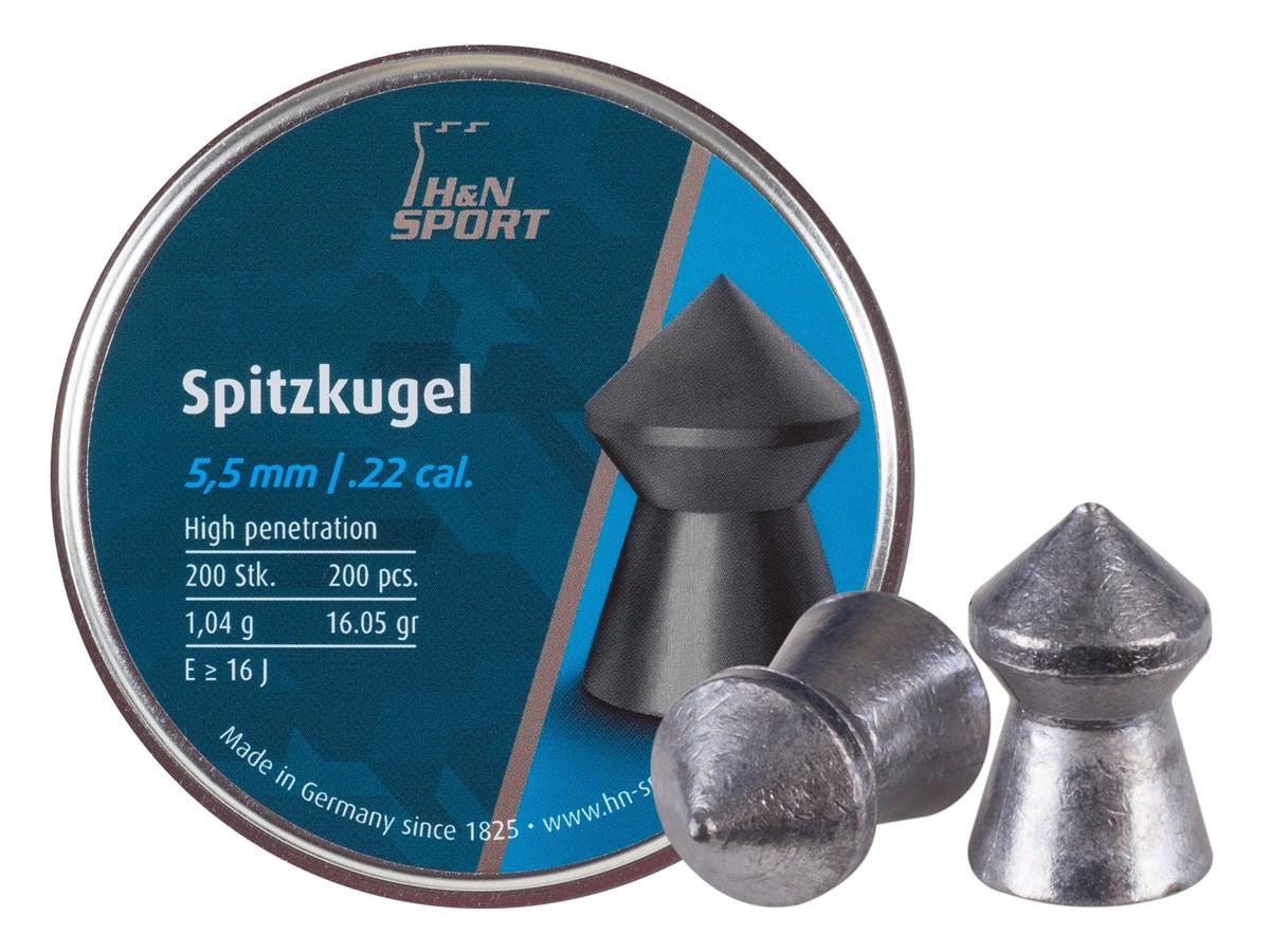 H&N Spitzkugel .22 Cal, 15.74 gr - 200 ct