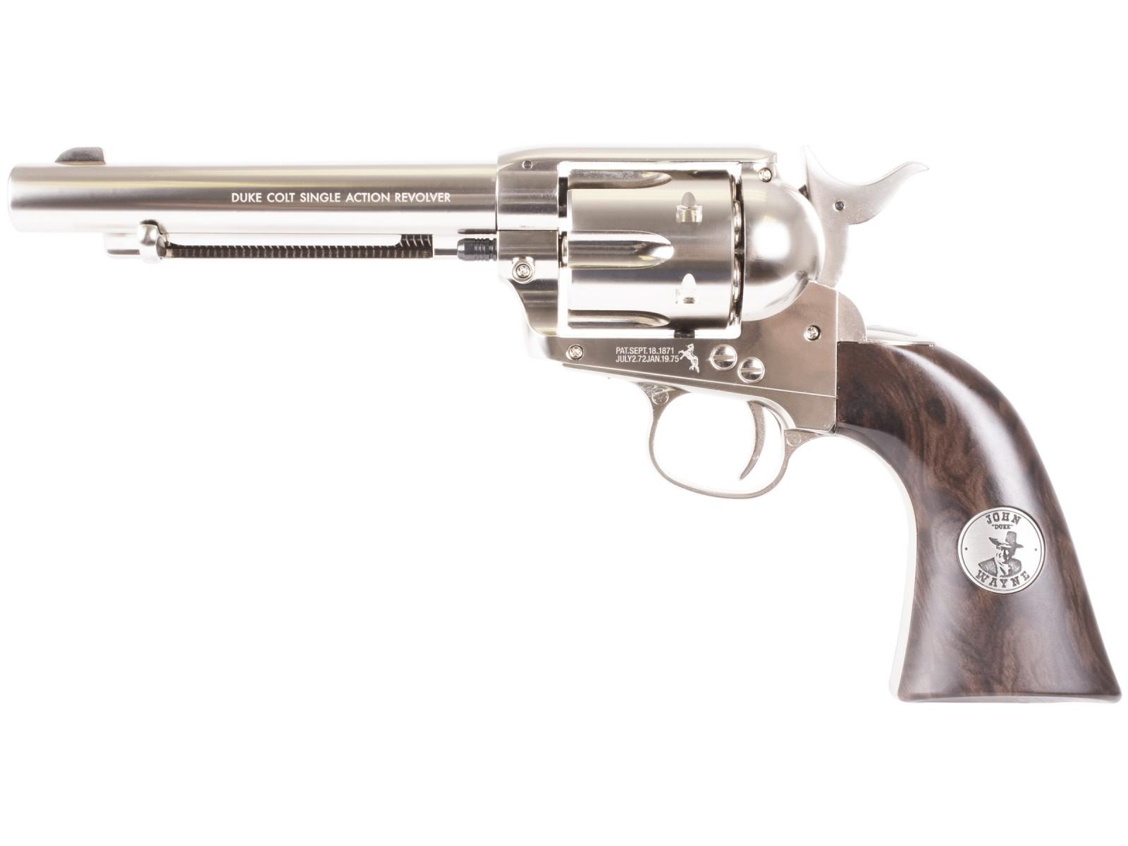 John Wayne Colt Peacemaker Pellet Revolver, Nickel