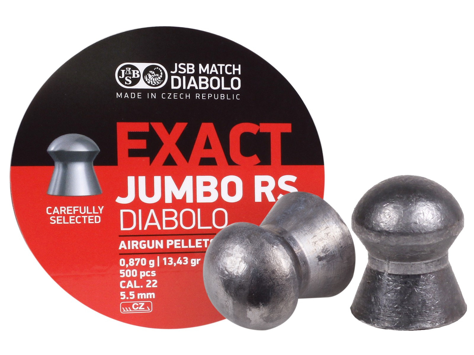 JSB Diabolo Exact Jumbo RS .22 Cal, 13.43 gr - 500 ct