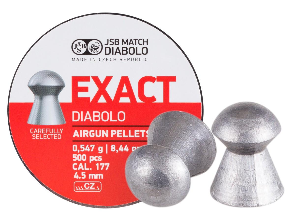 JSB Diabolo Exact .177 Cal, 8.4 gr - 500 ct