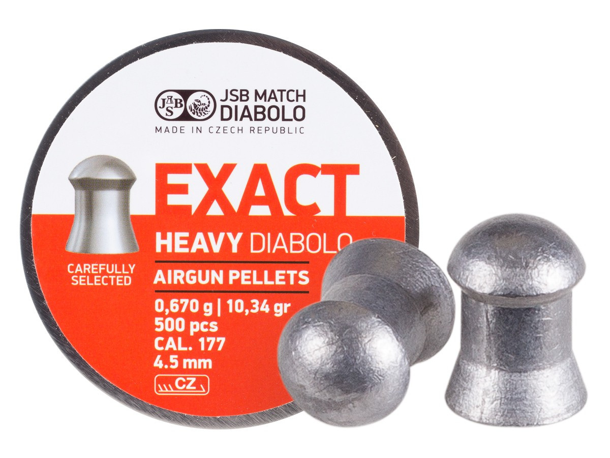 JSB Diabolo Exact Heavy .177 Cal, 10.34 gr - 500 ct