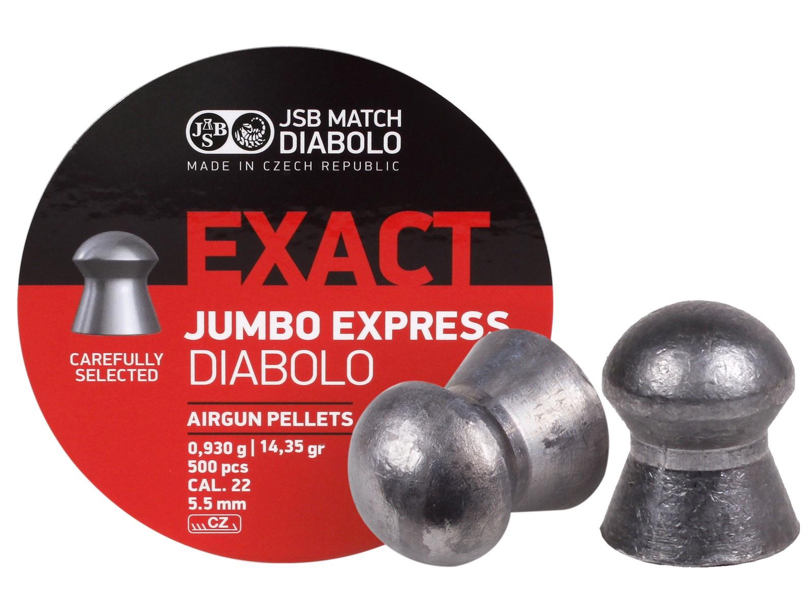 JSB Diabolo Exact Jumbo Express .22 Cal, 14.35 gr - 500 ct