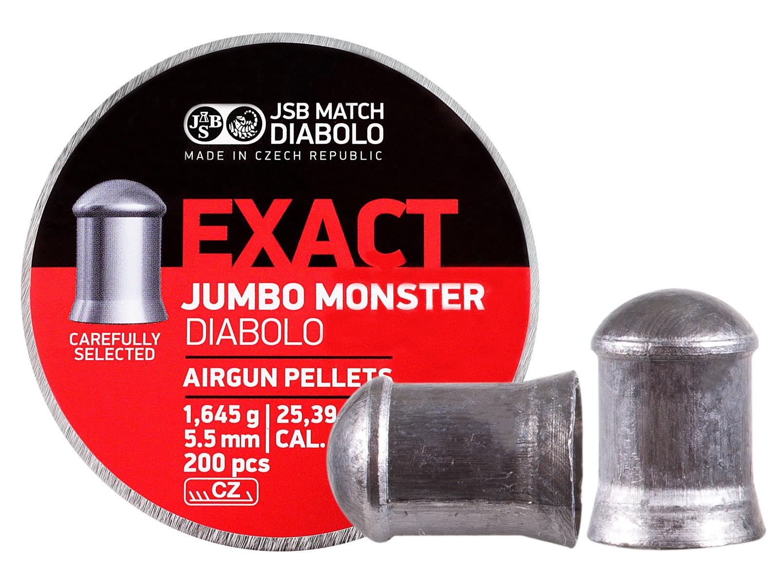 JSB Diabolo Exact Jumbo Monster .22 Cal, 25.39 gr - 200 ct