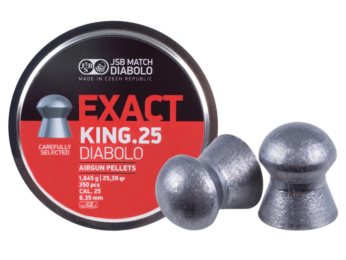 JSB Diabolo Exact King .25 Cal, 25.39 gr - 350 ct