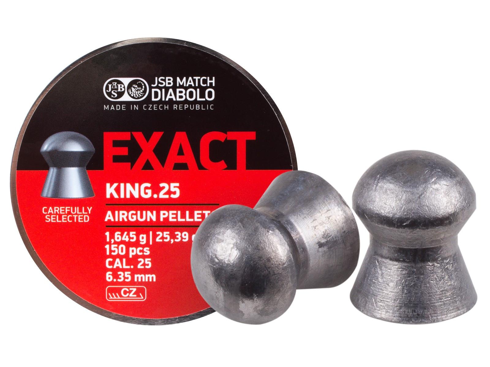 JSB Diabolo Exact King .25 Cal, 25.39 gr - 150 ct