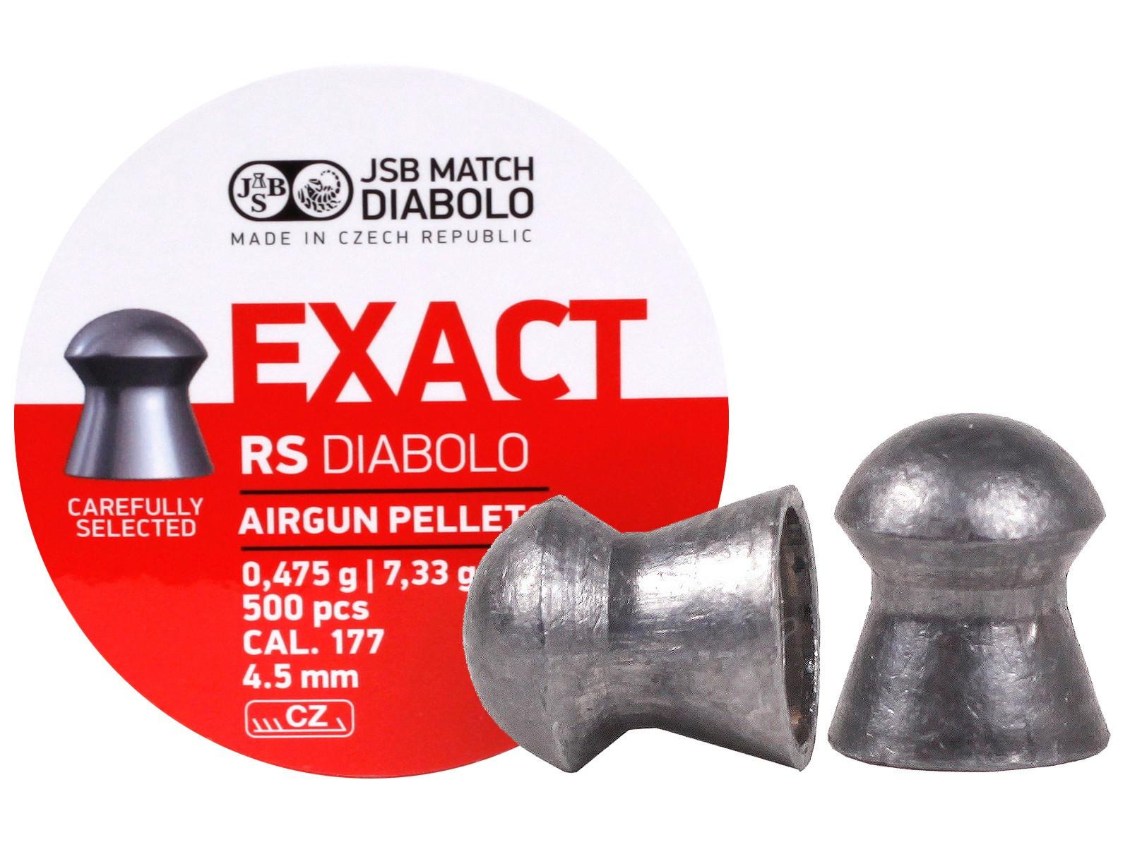 JSB Diabolo Exact RS .177 Cal, 7.33 gr - 500 ct