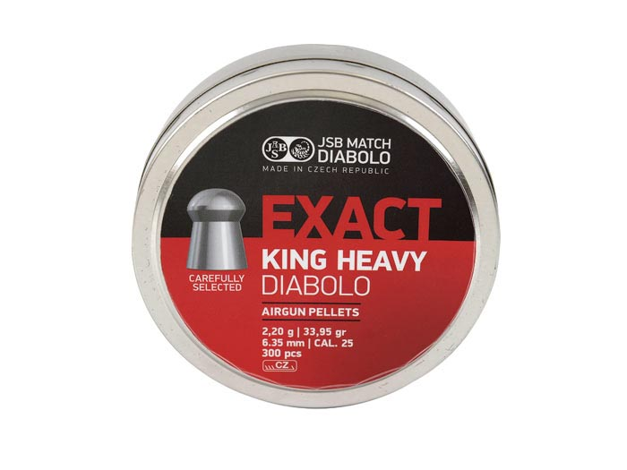 JSB Diabolo Exact King Heavy .25 Cal, 33.95 gr - 300 ct