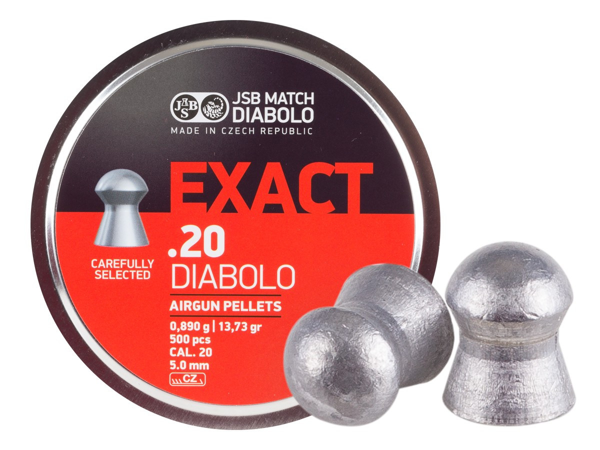 JSB Diabolo Exact .20 Cal, 13.73 gr - 500 ct