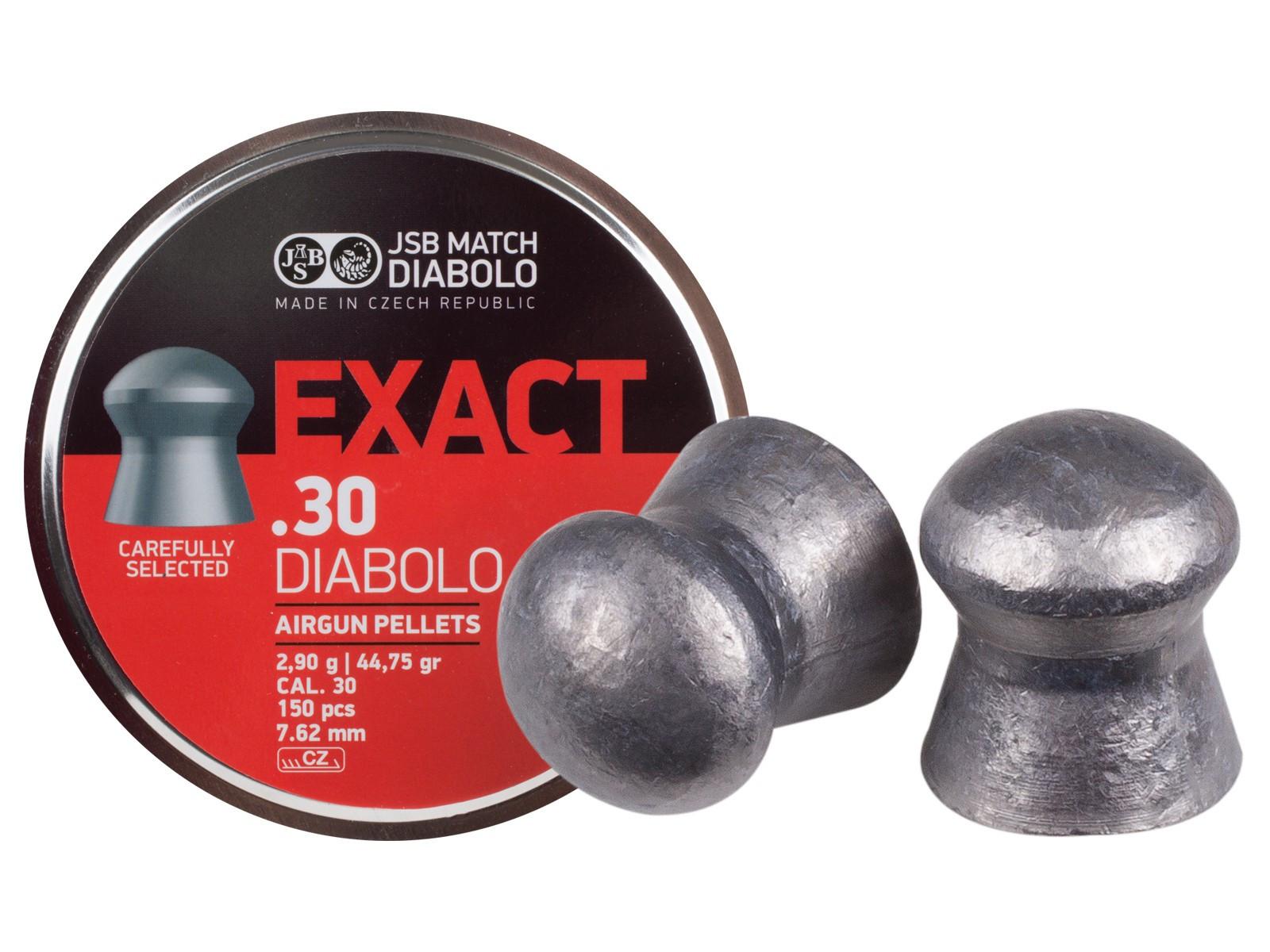 JSB Diabolo Exact .30 Cal, 44.75 gr - 150 ct