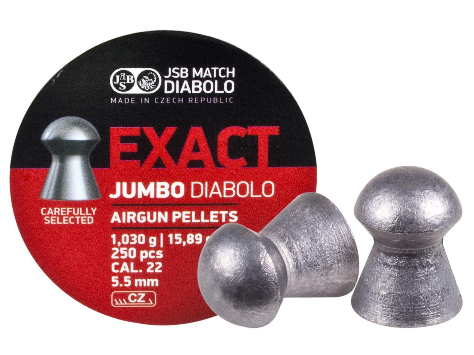 JSB Diabolo Exact Jumbo .22 Cal , 15.89 gr - 250 ct