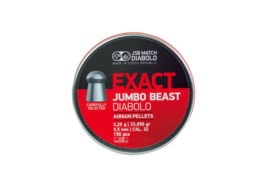JSB Diabolo Exact Jumbo Beast .22 Cal, 33.96 gr - 150 ct