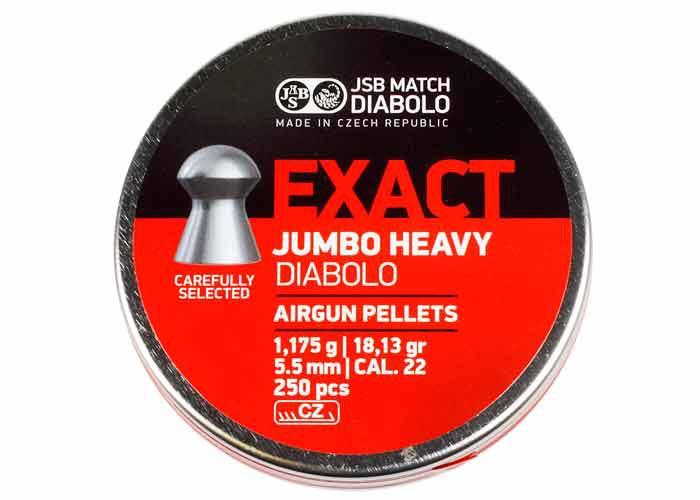 JSB Diabolo Exact Jumbo Heavy .22 Cal, 18.13 gr - 250 ct
