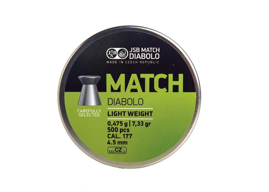 JSB Green Match Light Weight .177 Cal, 7.72 gr - 500 ct