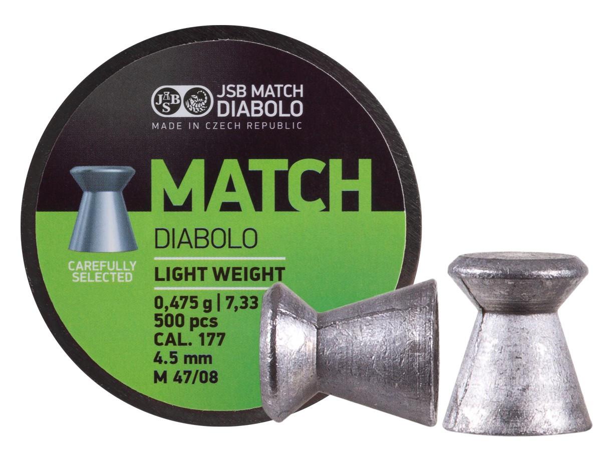 JSB Green Match Light Weight .177 Cal, 7.33 gr - 500 ct