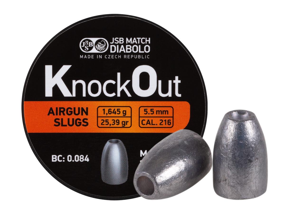JSB KnockOut Slugs, .216 Cal, 25.39 gr - 200 ct