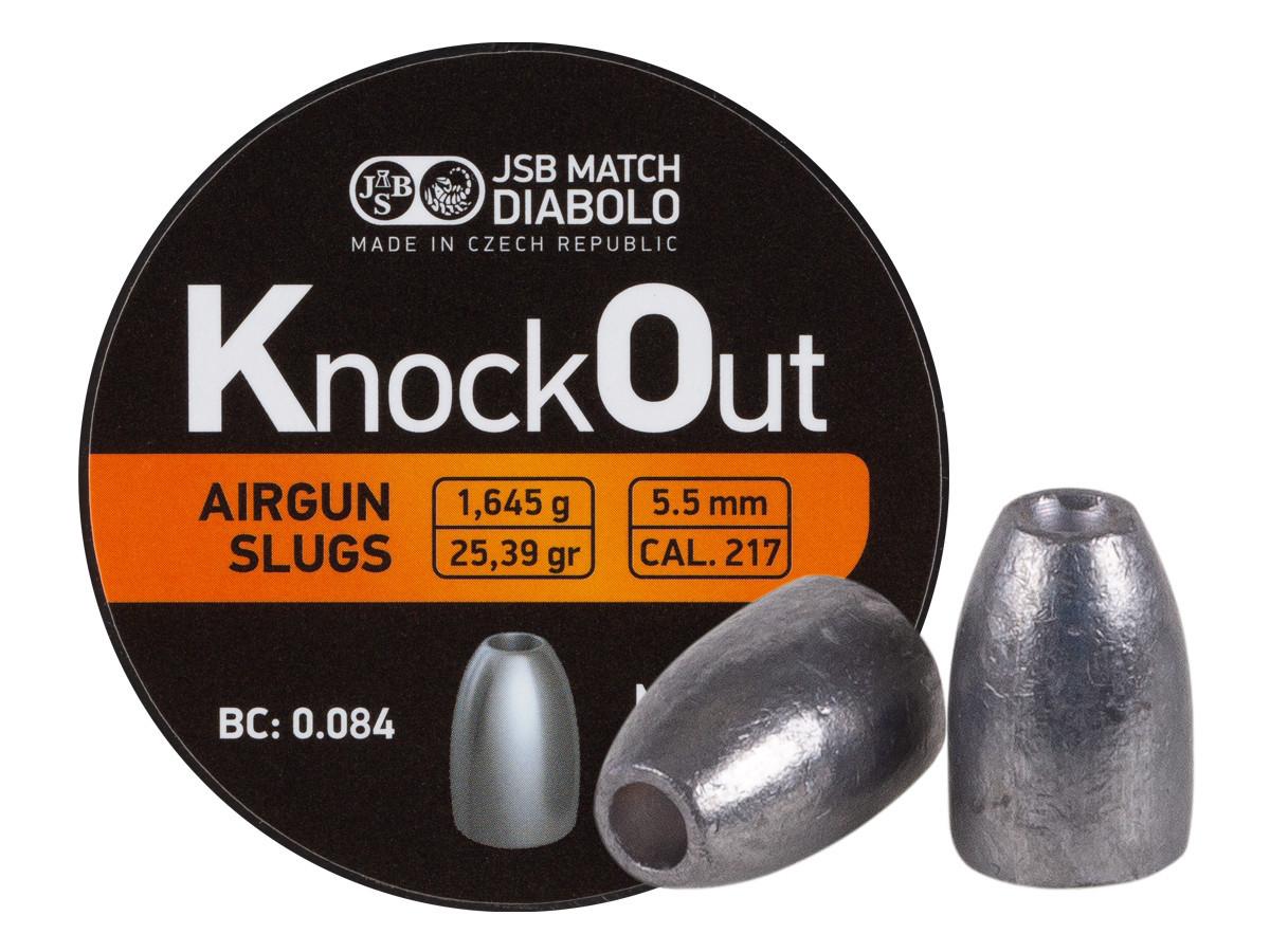 JSB KnockOut Slugs, .217 Cal, 25.39 gr - 200ct