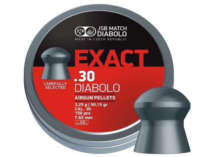 JSB Diabolo Exact .30 Cal, 50.15 gr - 150 ct